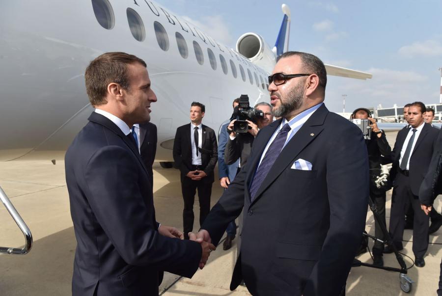 Actualite Actualite Macron et Mohamed VI font connaissance à Rabat