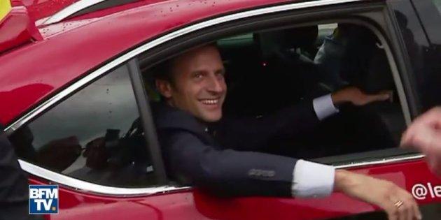 Actualite Actualite Tour de France 2017, étape 17: la visite d'Emmanuel Macron sur le Tour
