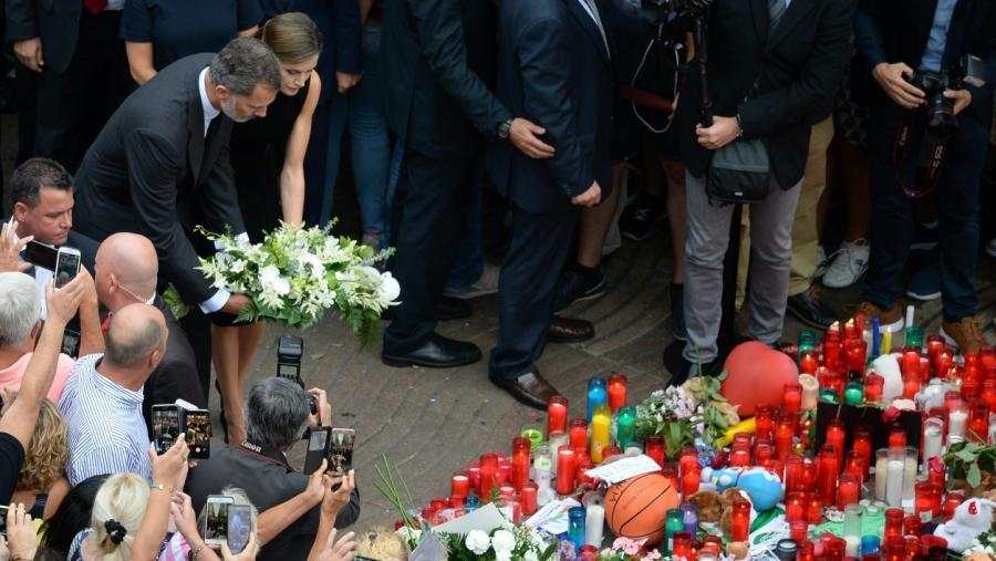 Actualite Actualite Espagne: l'hommage du roi Felipe et de la reine Letizia aux victimes des attentats