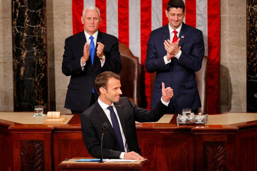 Actualite Actualite Emmanuel Macron ovationné par le Congrès américain