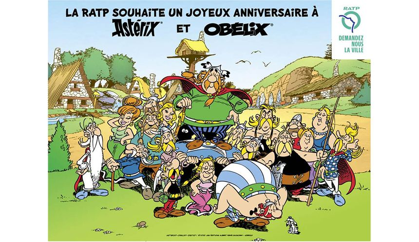 Paris Paris Paris : Pour les 60 ans d'Astérix, la RATP rebaptise des stations de métro